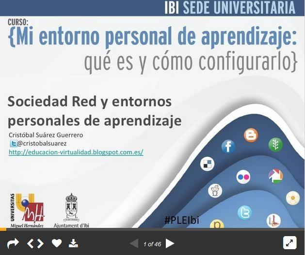 Sociedad en Red y Entornos Personales de Aprendizaje (PLE) | #Presentación #Educación
