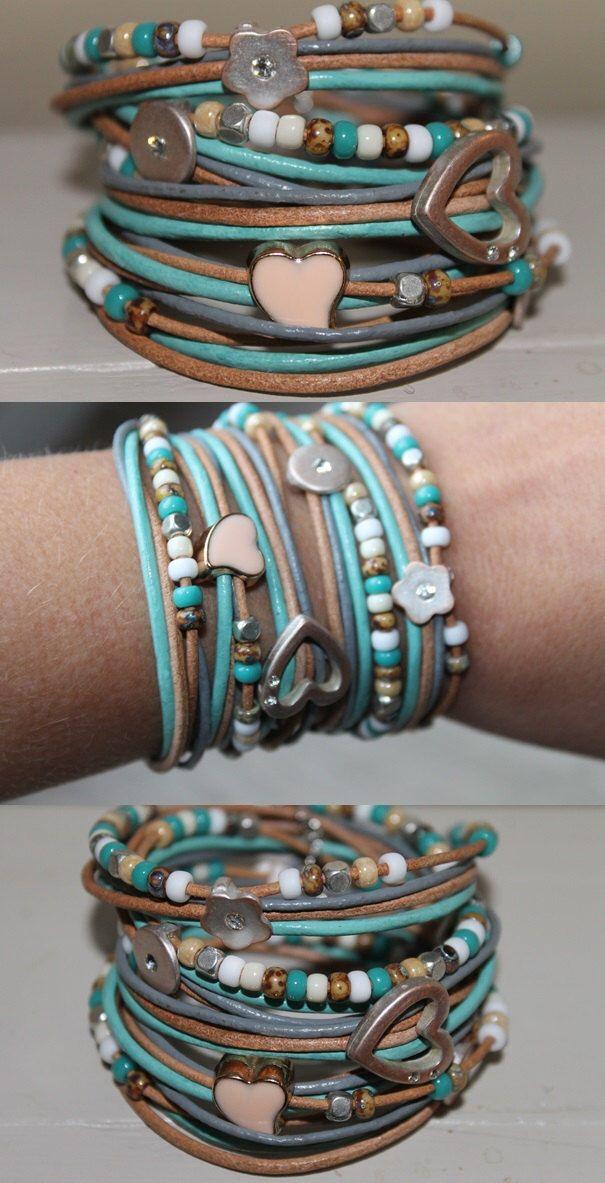 Bracciale in perline di imparare, avvolgere il bracciale, braccialetto fatto a mano, braccialetto di perline, gioielli fatti a mano, Bracciale in pelle di homemadewithpleasure su Etsy https://www.etsy.com/it/listing/252874008/bracciale-in-perline-di-imparare