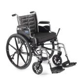 """Invacare LightWeight Tracer EX2 Wheelchair 20"""" with Swingaway Footrest-Blue (Folding, Assembled)  List Price: $435.00 Discount: $270.01 Sale Price: $164.99"""