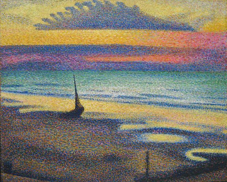 Musée d'Orsay - Georges Lemmen, Plage à Heist, 1891.