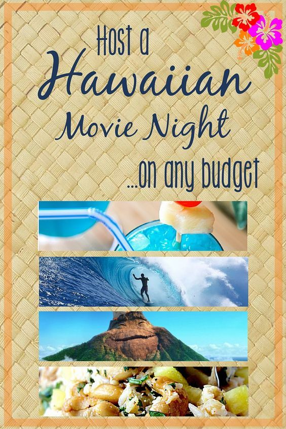 Throw the best Hawaiian themed movie night on any budget! We've gathered dozens of movie titles for viewers of all ages, plus food, decorations, and activities to make your movie night or get together simple and fun.