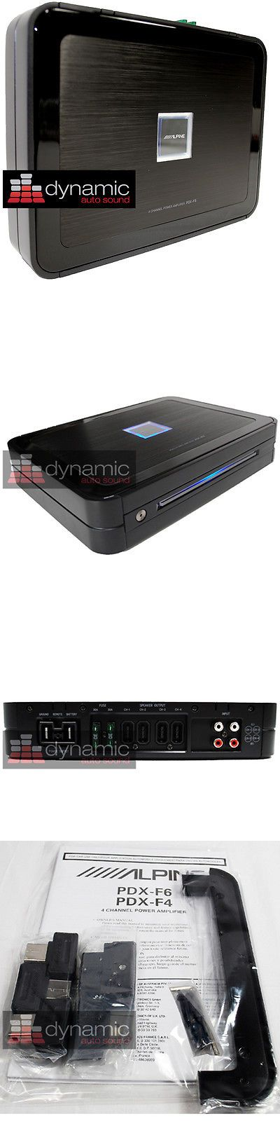 Car Amplifiers: Alpine Pdx-F6 Digital Car Amplifier 600 Watt 4 Speaker Sub Woofer Amp Pdxf6 New -> BUY IT NOW ONLY: $419.95 on eBay!