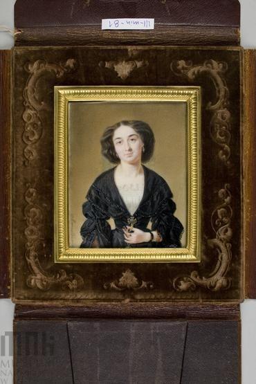 Marszałkiewicz, Stanisław (1789-1872), Portrait of Countess Maria Tyszkiewicz, nee  Radziwiłł after 1860, Krakow, National Museum