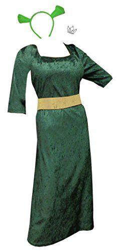 Womens Princess Fiona Shrek Plus Size Supersize Halloween Costume Dress & Basic Kit @ niftywarehouse.com #NiftyWarehouse #Geek #Horror #Creepy #Scary #Movies