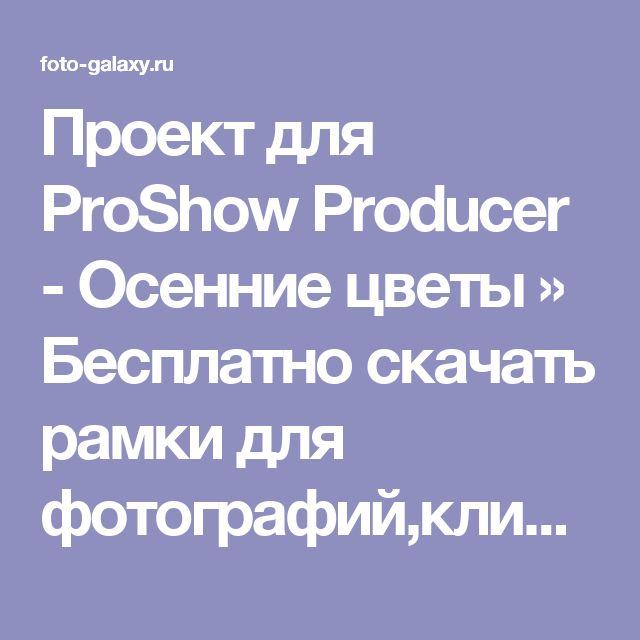 Проект для ProShow Producer - Осенние цветы » Бесплатно скачать рамки для фотографий,клипарт,шрифты,шаблоны для Photoshop,костюмы,рамки для фотошопа,обои,фоторамки,DVD обложки,футажи,свадебные футажи,детские футажи,школьные футажи,видеоредакторы,видеоуроки,скрап-наборы