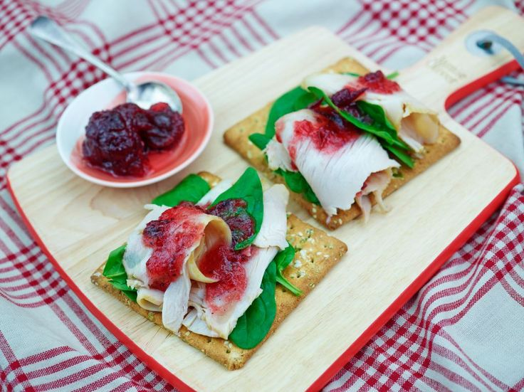 Turkey, cranberry & baby spinach - recipe courtesy of Campbell Arnotts