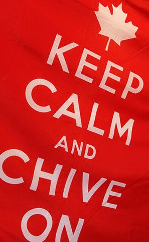 Keep Calm and Chive On Canadian Flag | The Chivery #KCCO