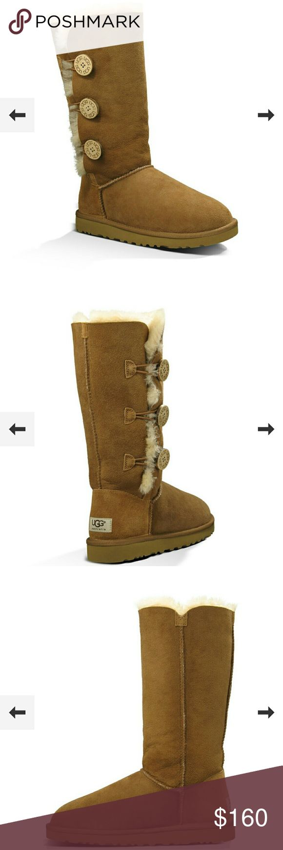 Womens UGG Bailey Button Triplett boots Never used and in box size 9 women's UGG boots in tan UGG Shoes Winter & Rain Boots