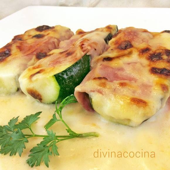 Calabacines gratinados < Divina Cocina