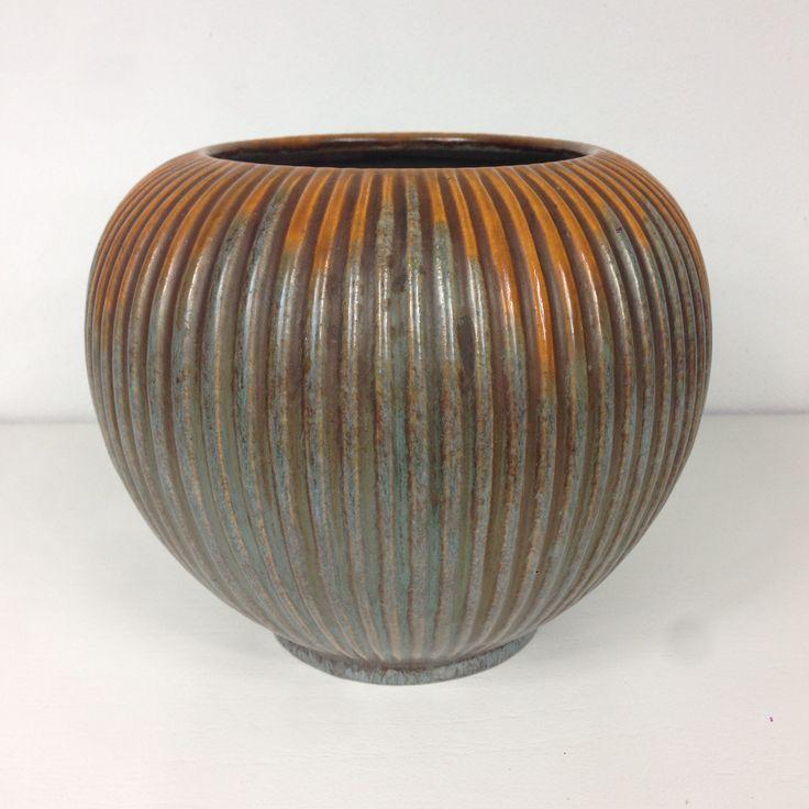 Michael Andersen Keramik vase m. Riller