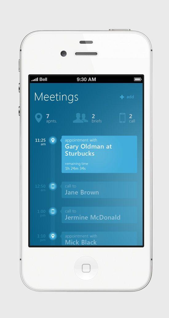 Meetings Metro UI for #UI Design| http://uidesign955.blogspot.com