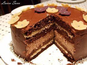 Tort cu doua creme de ciocolata