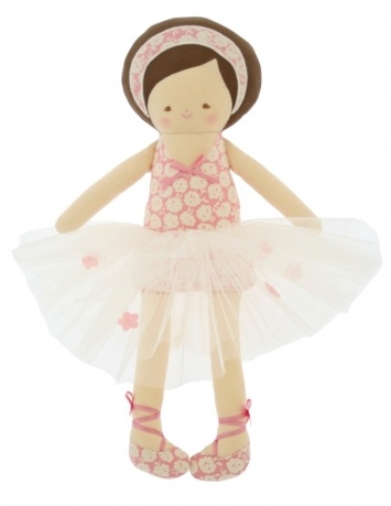 Alimrose – Allegra Ballerina Doll | Boutique Online Children's Store - Baby and kids clothes, swimwear, toys and more.  http://www.nellandoll.com.au/alimrose-allegra-ballerina-doll/