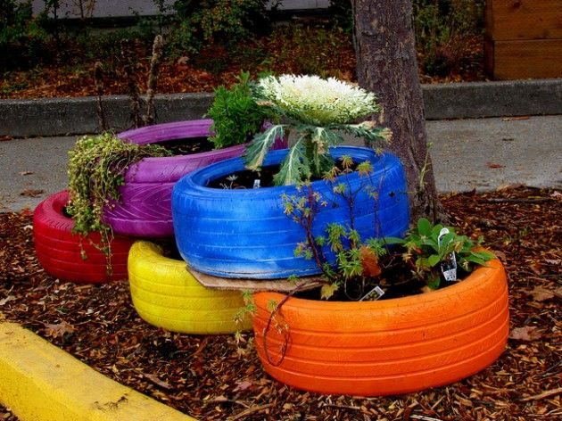 Best 25 reuse old tires ideas on pinterest diy crafts for Best out of waste garden ideas