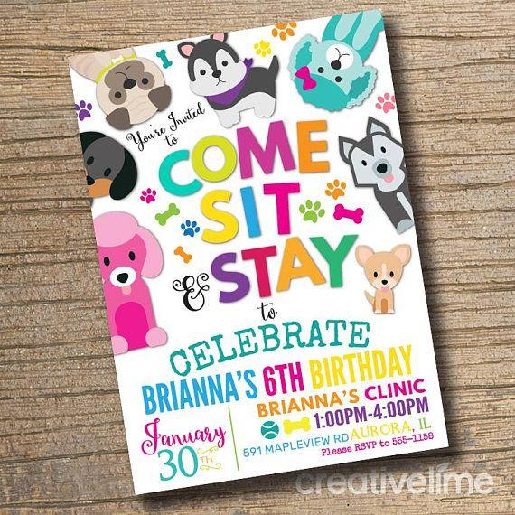 Printable Puppy Party Invitation Pet Adoption Birthday Etsy In 2020 Puppy Adoption Birthday Party Pet Adoption Party Puppy Party Invites