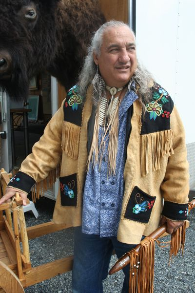 Dennis J. Weber: Dennis' Metis Coat was beaded by Lisa Shepherd.