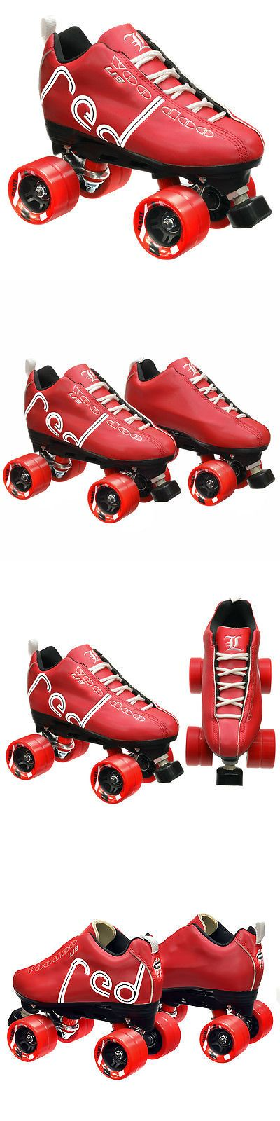 Men 71155: Labeda Voodoo U3 Quad Roller Customized Red Speed Skates With Dart Wheels -> BUY IT NOW ONLY: $89.99 on eBay!