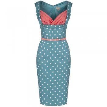 Vanessa Green Polka Dot Wiggle Dress | Vintage Fashion - Lindy Bop