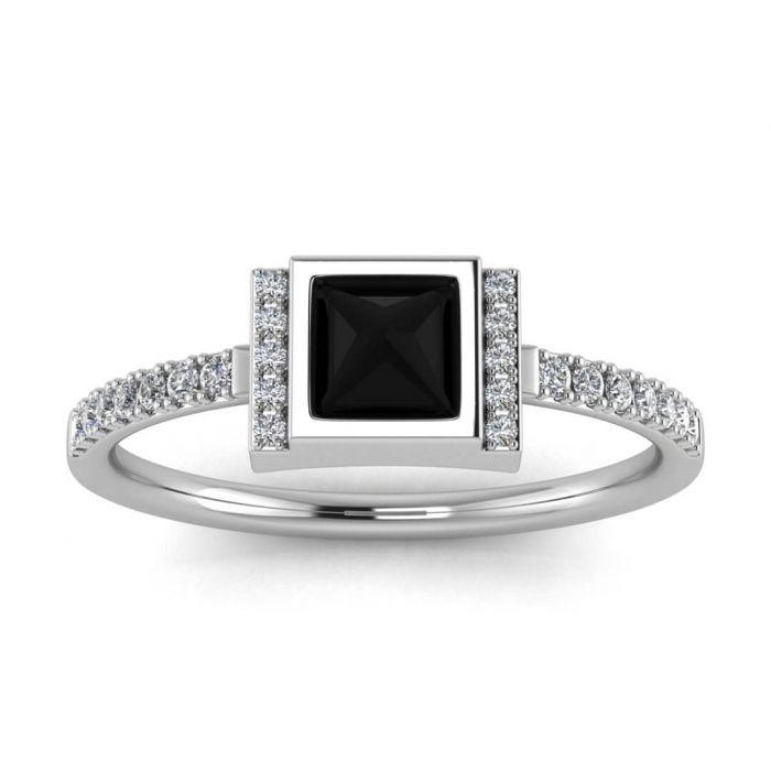 Pin On Black Diamond Halo Engagement Ring
