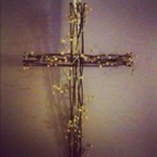 This Is My Easter Cross Wreath That Hung On Door Thank You Jesus For