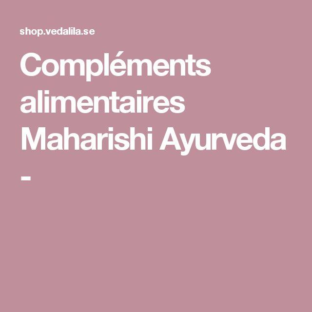 Compléments alimentaires Maharishi Ayurveda -