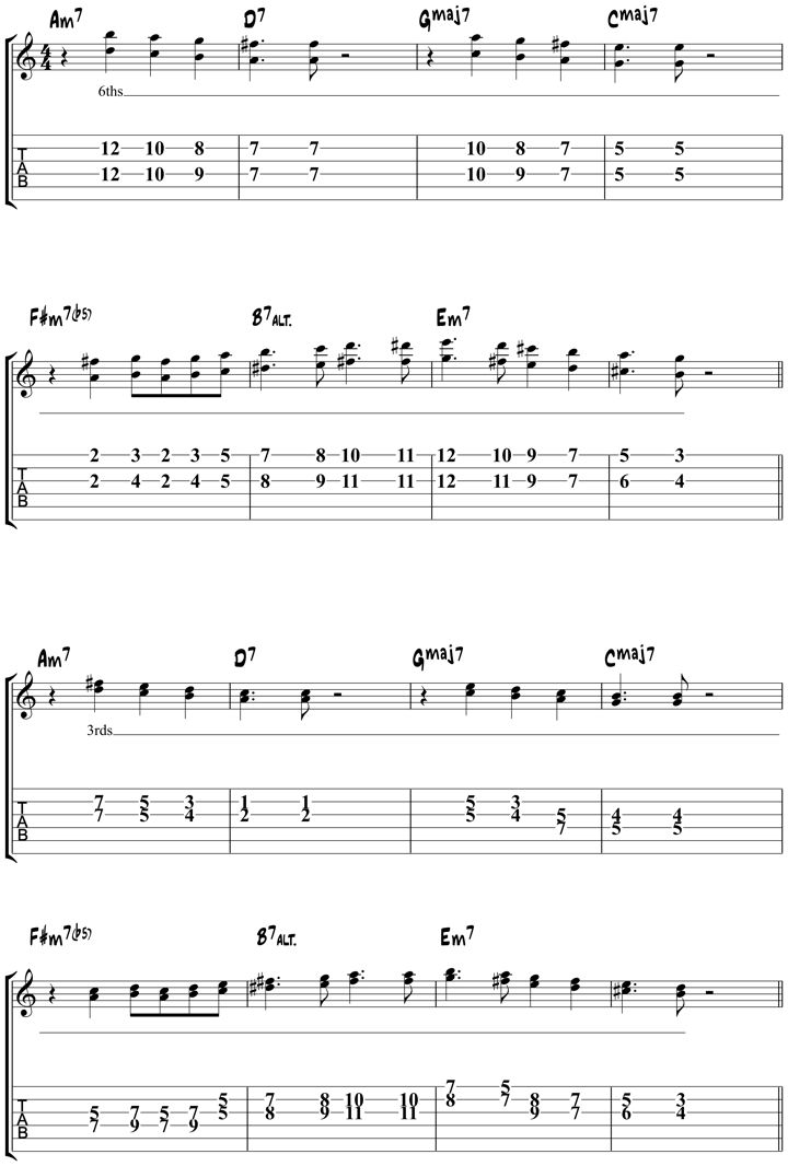 Autumn Leaves Jazz Guitar Chords