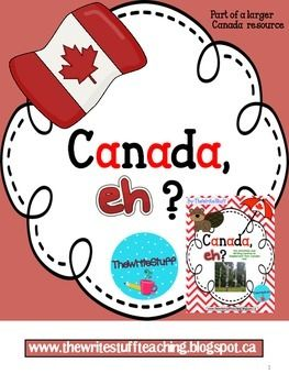 Canada Day : This Canada Day printable is a sample from my Canada,eh? resource pack.Have students write and draw about what is great about living in Canada.Made by: The Write Stuff