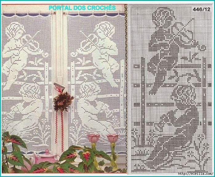 600 best cortinas crochet images on Pinterest   Punto de crochet ...