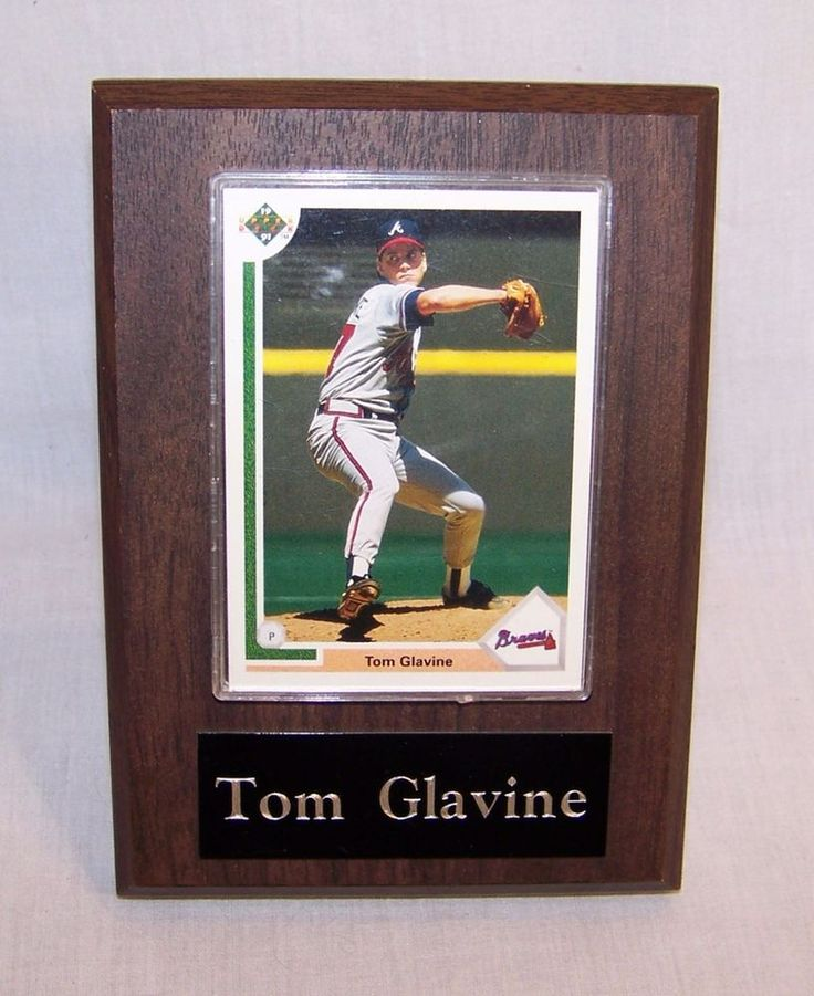 Tom Glavine - Upper Deck Baseball Card #480 1991 - Wooden Plaque Plastic Case #AtlantaBraves #vintagephilly