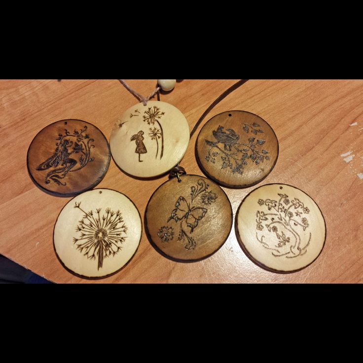 Wood Pendants Jewlery Woodburn Designs Pyrography Https