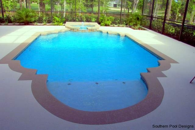 residential zero entry pool design | Water Slide | Outdoor living ...