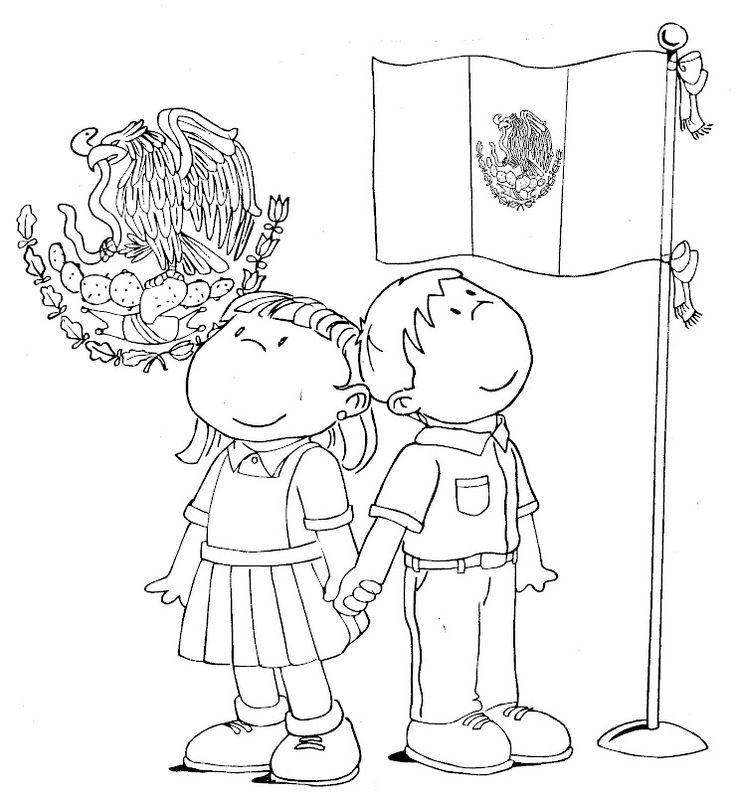 honores ala bandera dibujo para colorear - Buscar con Google