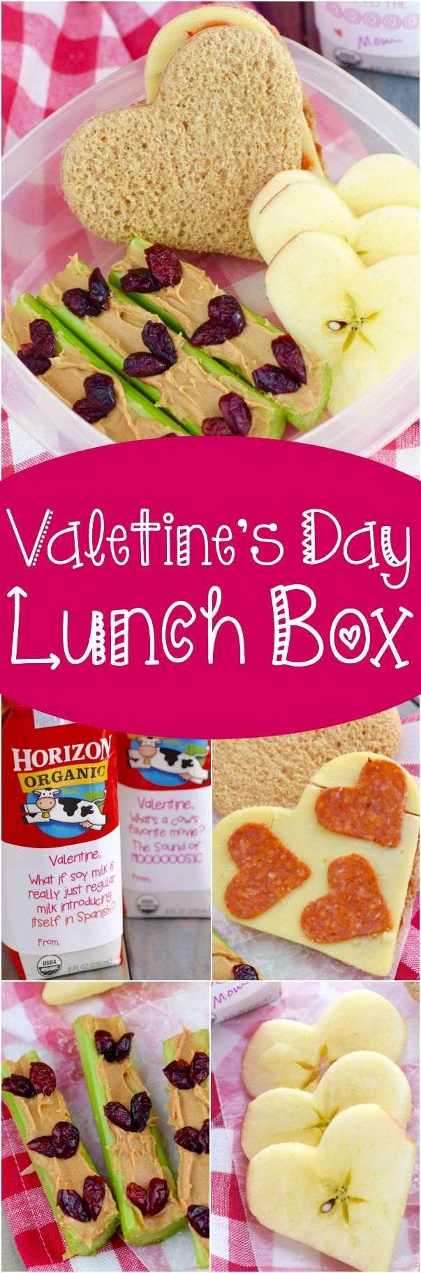 This Valentine's Day Lunch Box is super cute and you can dress it up with some fun printables to go on your Horizon milk box!
