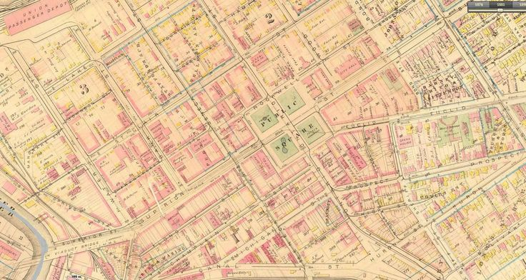 Downtown Cleveland 1881 (interactive map in comments) [1619x864 ...