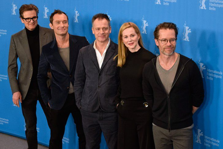 Pin for Later: Colin Firth and Jude Law Add a Touch of Class to the Berlin Film Festival Colin Firth, Jude Law, Michael Grandage, Laura Linney, and Guy Pearce