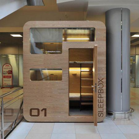 Sleepbox in Moscow's Sheremetyevo airport.