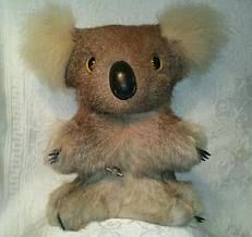 Koala made with real fur in 1970s.  I had one it played Waltzing Matilda.