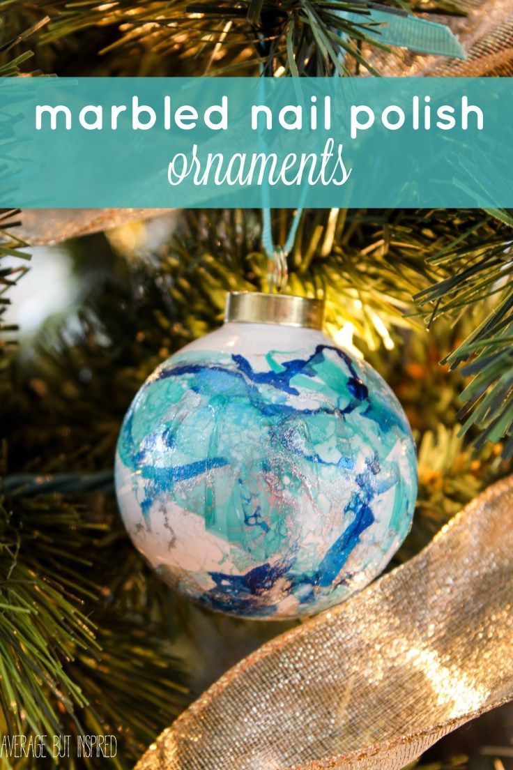 Marbled Nail Polish Ornaments Ogt Blogger Friends Ornaments Diy