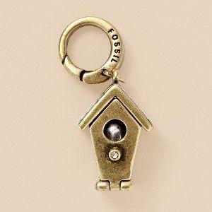 FOSSIL® Bird House Charm