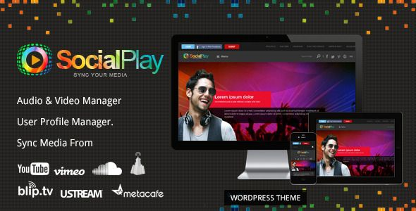 SocialPlay v1.2.8 Themeforest Media Sharing Free Theme
