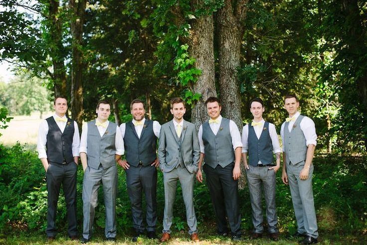 Mismatched groomsmen - A Beautiful Mess blog