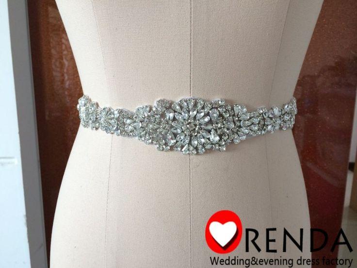 2014 New Custom Made Elegant Motif Rhinestone Shiny Crystal Beautiful Bridal Wedding Dress Belts and Sash With Ribbon Orenda-in Wedding Dresses from Apparel & Accessories on Aliexpress.com | Alibaba Group