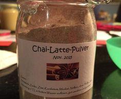 Latte Macchiato Pulver für selbstgemachten Latte (auch ohne Milchpulver möglich) - schöne Geschenkidee - http://www.rezeptwelt.de/rezepte/chai-latte-pulver/834276