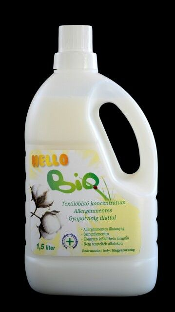#Textile final rinsing agent allergy free #cotton flower odored. This rinsing agentis the other pair fot the #HelloBio #organic plant based detergent. We recommend this especially for sensitive skinned people. It's odor is nice, long lasting and clean. www.citrobio.hu