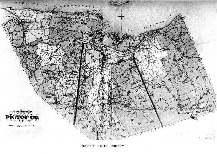 old map of Pictou County settlers ...