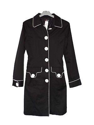 Morgan Trench Coat Black White tepop Size 1 or 38 Nearly New- без перевода   74eccfd91