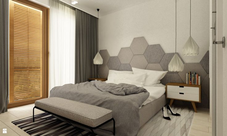 Sypialnia styl Minimalistyczny - zdjęcie od Grafika i Projekt architektura…