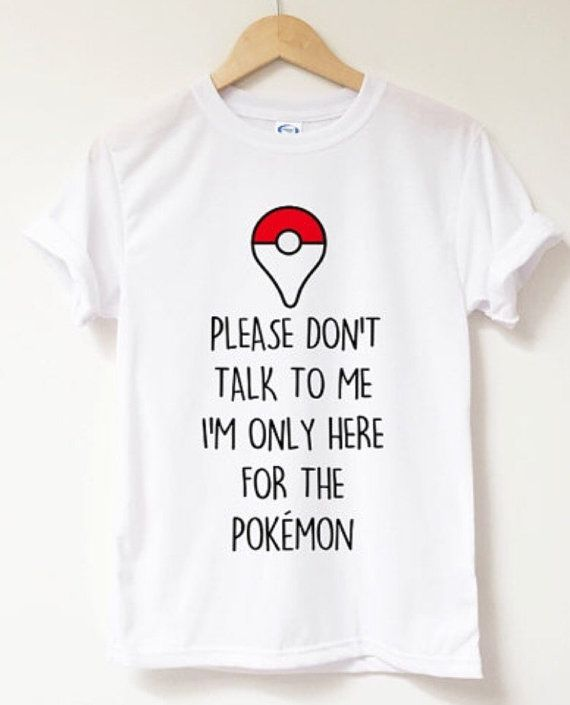 Pokemon Go shirt by WaterTheSeeds on Etsy