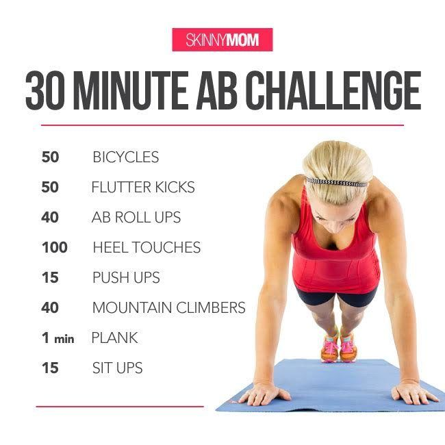 30-Minute Ab Challenge | Ab challenge Easy ab workout ...