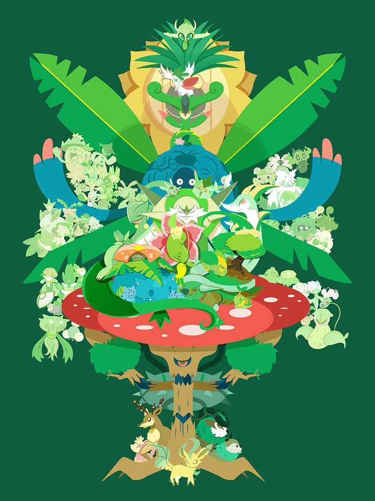 Grass Type Pokemon by Jody Perkins/Dizzie Skizze on Storenvy